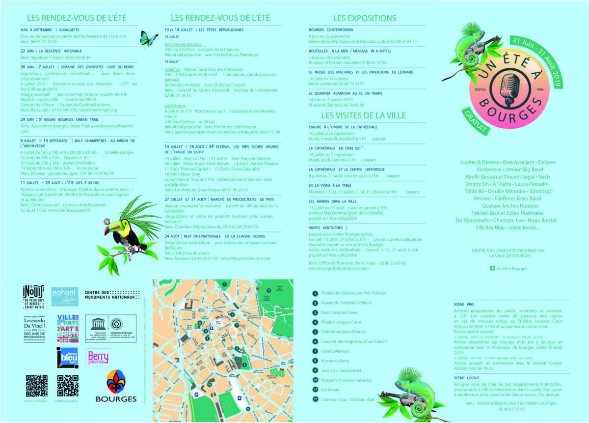 Programme un été à Bourges 2019